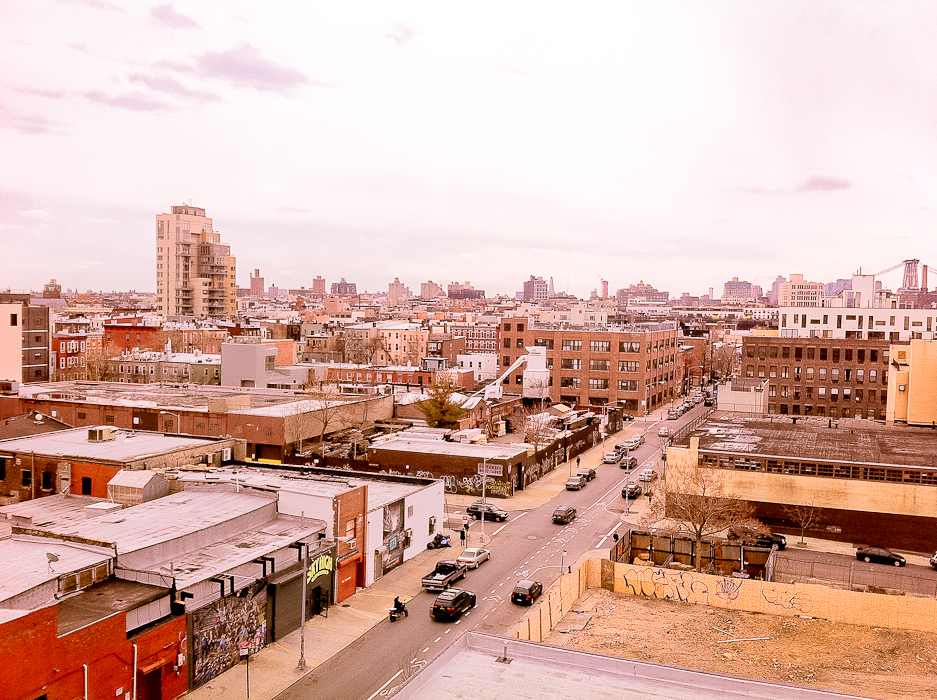 View of Brooklyn from the Wythe Hotel in Williamsburg [stuff-i-love.com]