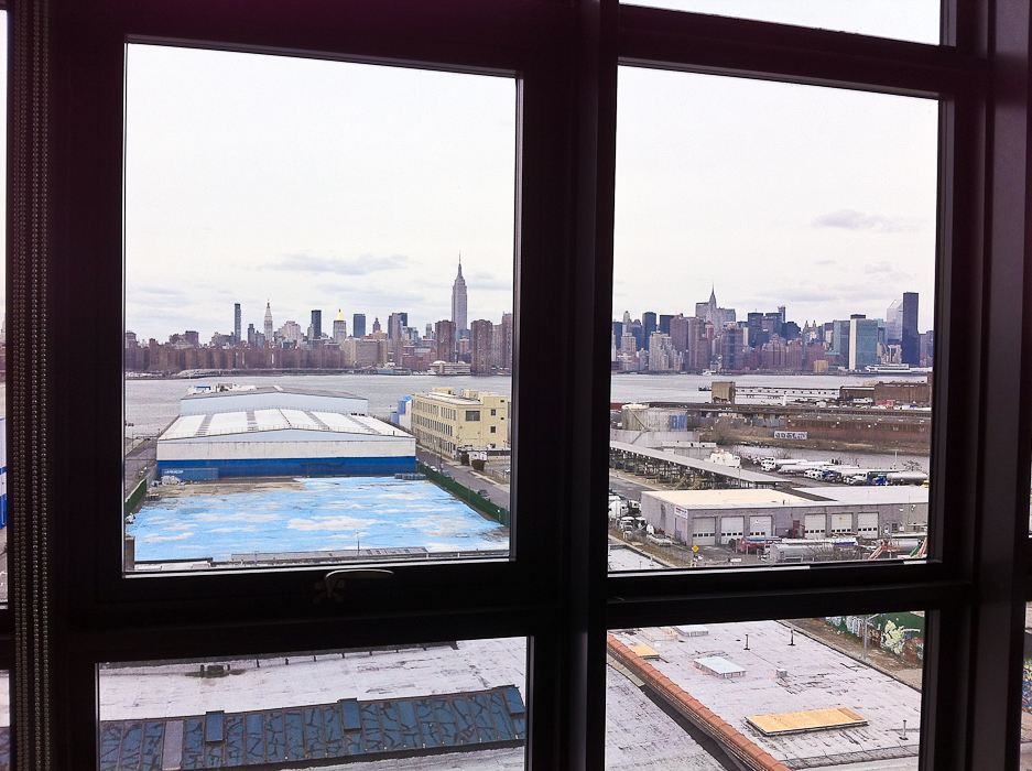 The Manhattan skyline from the Wythe Hotel in Williamsburg [stuff-i-love.com]