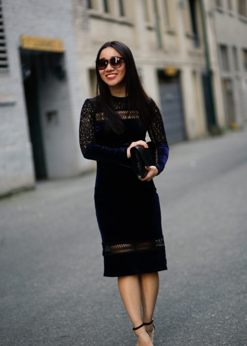 NYE Ready :: Velvet and Lace Party Dress