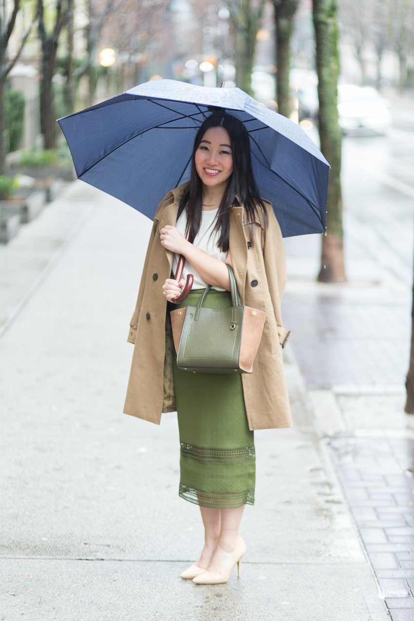 rainy weather 9 to 5 outfit