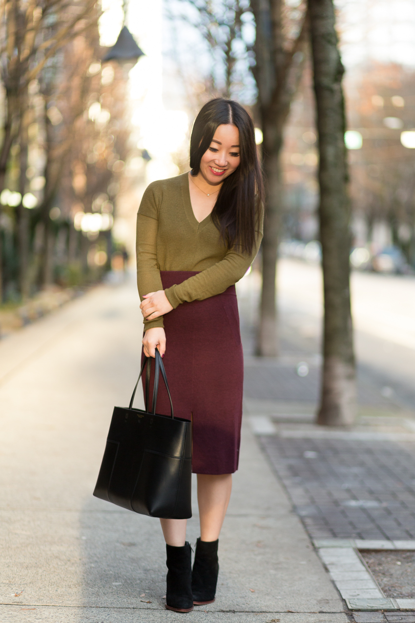 Burgundy Sweater Skirt - Stuff I Love
