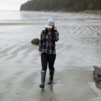 Tofino beach rails Hunter plaid shirt