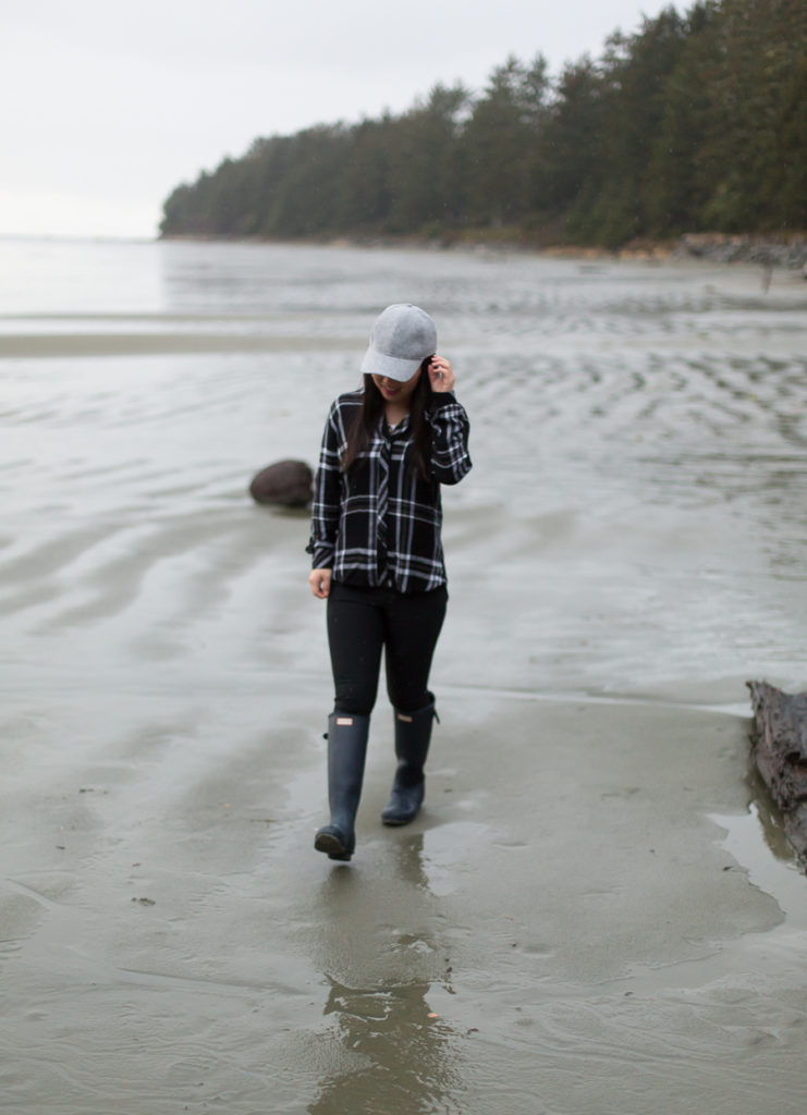 On the beach in Tofino