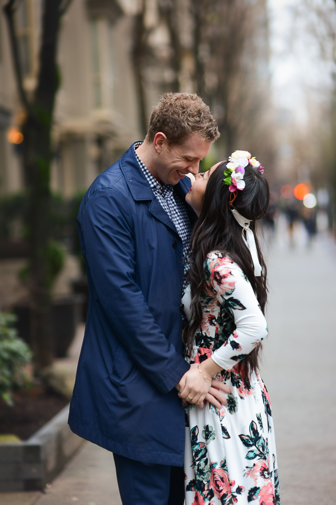 romantic floral couples photoshoot