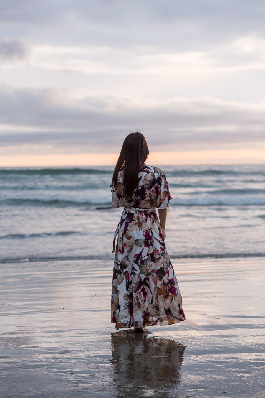 jessakae floral maxi beach photoshoot